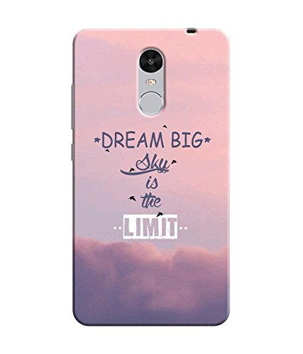 """NH10 DESIGNS 3D PRINTING DESIGNER HARD SHELL POLYCARBONATE """"DREAM BIG SKY IS THE LIMIT"""" PRINTED SHOCK PROOF WATER RESISTANT SLIM BACK COVER MATT FINISH FOR MI XIOMI REDMINOTE4/REDMI NOTE4/REDMI NOTE 4"""