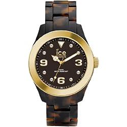 Ice-Watch Ice-Elegant Women's Quartz Watch with Black Dial Analogue Display and Brown Bracelet EL.TGD.U.AC.12