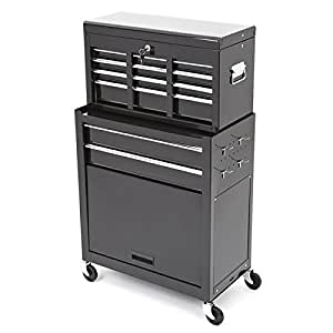 trueshopping tool cabinet large steel chest 2 piece rollcab storage box 6 drawer protection rust. Black Bedroom Furniture Sets. Home Design Ideas