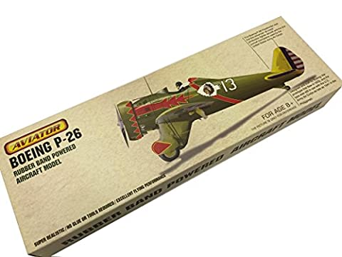 Aviator Boeing P-26 Rubber Powered Model Aircraft Kit