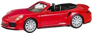 Herpa 28929 Porsche 911 Turbo Cabriolet, Color Rojo Indio