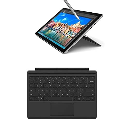Microsoft Surface Pro 4 31,24 cm (12,3 Zoll) Tablet-PC (Intel Core i5, 8GB RAM, 256GB, Intel HD Graphics, Windows 10 Pro, Microsoft QC7-00022 Surface Pro 4 Type Cover) schwarz inkl. Type Cover Schwarz