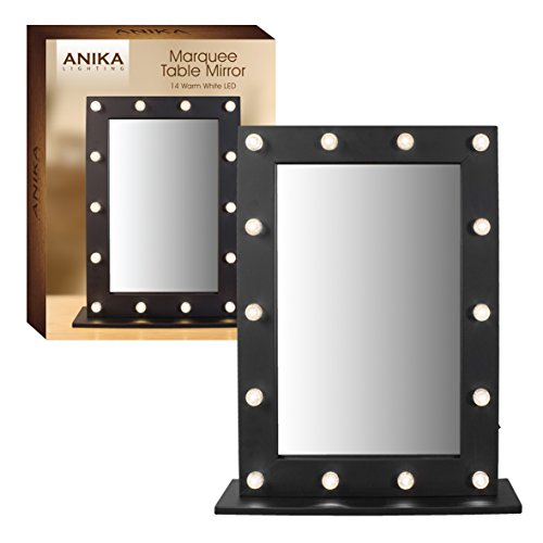 Anika-Battery-Operated-Free-Standing-LED-Marquee-Mirror-Black