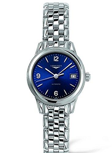 Longines Fiore all' occhiello Automatico Blu Quadrante In Acciaio Inox Orologio da donna L42744966by Longines