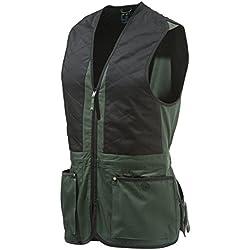 Beretta Universal Trap Cotton - Chaleco para hombre, Multicolot (Verde/Negro), L