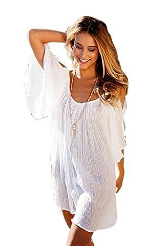 Costume Da Bagno - Paréo - Femme blanc Bianco Large