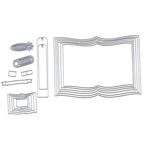 Fogun Buch Grenze Stanzformen Schablone Für DIY Scrapbooking Prägen Album Papierkarte (Grenzen Bücher)