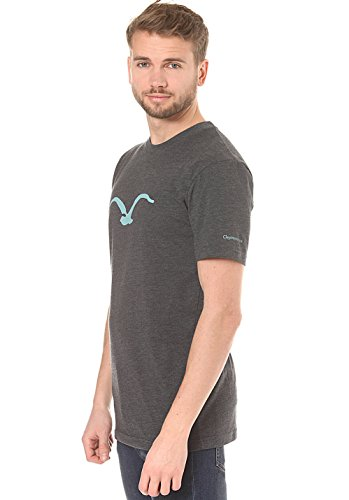 Cleptomanicx Möwe heather dark gray/black T-Shirt Black