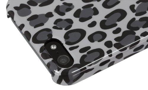 Trendz Hard Shell Schutzhülle Clip-On Case Cover für iPhone 4/4S - London Silhouettes Leopard Druck