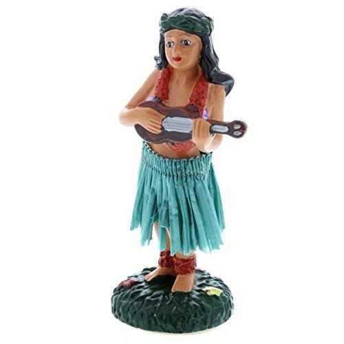 Hawaiian-Hula-Girl-con-ukelele-en-miniatura-mueca-de-salpicadero