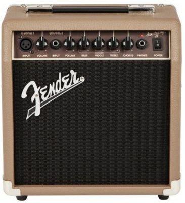 Fender ACOUSTASONIC Gitarre Verstärker 15W-Instrumente/Verstärker