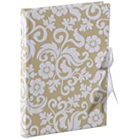 Luxury A5 Ivory/White Flock Notebook - Wedding Stationery by Unravel A Gift