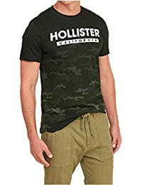 Hollister New Camo Green Black T-Shirt Tee T-Shirt Men SZ Small/S