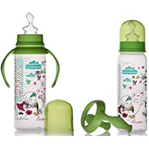 Little Bottle - Lot de 2 Biberons 240 ml col étroit emballé en Pochon  - Univers Le Petit Monde de Zélie - collection et modèle Secret Garden