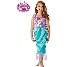 Disfraz sirenita Ariel de Disney Talla 3-4 Único