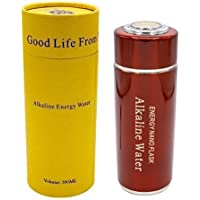 Tragbarer Alkalischer Wasserfilter, Ionisator Alkaline Water Flask Health Cup, Flasche in rot