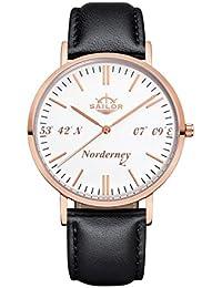 , Farbe Armband:Leder Schwarz