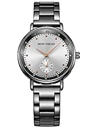 HWCOO Mini Focus Relojes de Pulsera Mujer Niños Reloj de Cristal Pavé Simulado Diamante Reloj Reloj