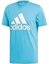 adidas Must Haves Badge of Sport, T-Shirt Uomo, Shock Cyan, XXL