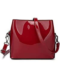 b57023702 JSXL bolso Bolsos para Mujer PU con Cremallera Azul/Negro / Rojo  Totalizador Tote Bandolera