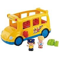 Fisher-Price Little People School Bus De plástico vehículo de juguete - Vehículos de juguete (De plástico, Azul, Amarillo, 1, 12, 5 año(s), Niño/niña, Motor (de fricción) hacia delante)