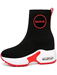 YAN Scarpe da Donna Knit Spring   Fall High-Top Sneakers Stretch Calzini Stivali  Scarpe 3c5e8e4e925