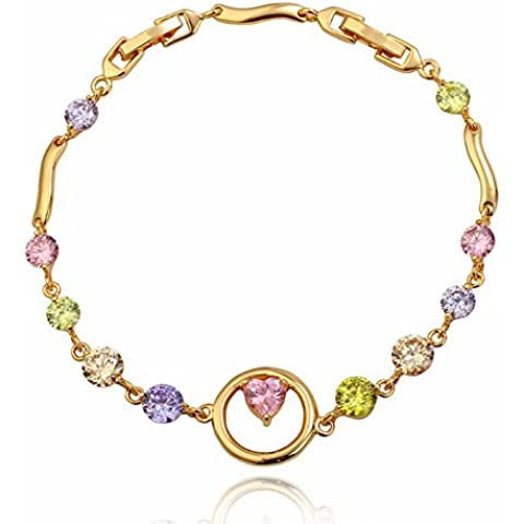ZWX Sweet lady bracciale cerchio felice/ lovely ladies bracelet/ il braccialetto Candy color dorato-C