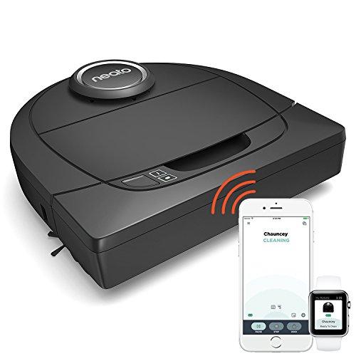 *Neato Robotics Botvac D5 Connected – Smart Saugroboter Alexa-kompatibel – Staubsauger Roboter mit Ladestation, Wlan & App – Perfekt gegen Hundehaare*