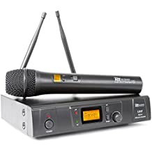 "Power Dynamics PD781 Micrófono Inalámbrico 8 Canales UHF (micro con indicador LCD, antena en la parte posterior, para racks de 19"")"