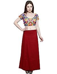 Pistaa's Cotton Lehenga Choli (PTCDMRN_Red_Free Size )