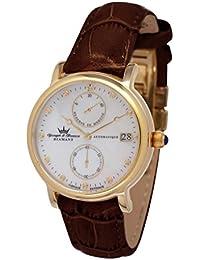 Yonger & Bresson YBD 8521-03 VS - Reloj de pulsera mujer, piel, color marrón