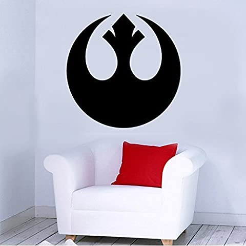 Rebel Alliance Insignia Removable Wall Sticker Art Home Office Room Mural Decor Vehicle Car Truck Window Bumper Graphic Decal- (20 inch) / (50 cm) Tall MATTE RED Color by StickerLove