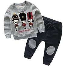 Lylita 2pcs Bambini bambino ragazza Pullover Felpa Cartoon Top + Pantaloni Abiti set