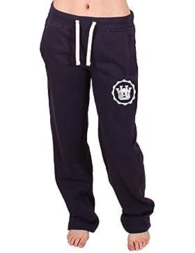 UOW - Pantalones de chándal para mujer - University of Whatever Azul azul 12 UK