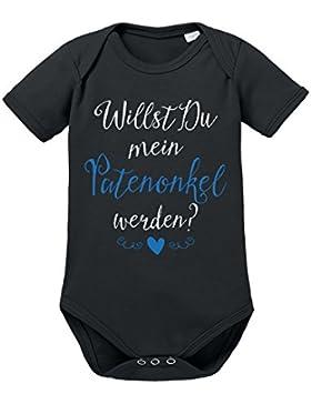 clothinx Baby Body Unisex Willst Du Mein Patenonkel Werden?