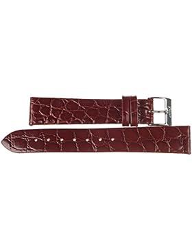 20 mm KAISER Uhren Lederband Uhrenarmband Lederuhrband Dunkelbraun 20 mm Schliesse: weiss