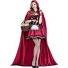 Fanessy Déguisement Femme Halloween Adulte Le Petit Chaperon Rouge Robe de  Princesse Jeu de Rôle Cosplay 9ebc3a32f63