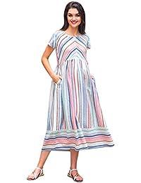 1fcd4b63eb8f3 Linen Maternity Dresses: Buy Linen Maternity Dresses online at best ...