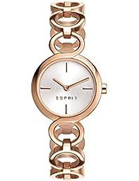 Esprit Damen-Armbanduhr Arya Analog Quarz Edelstahl beschichtet ES108212003