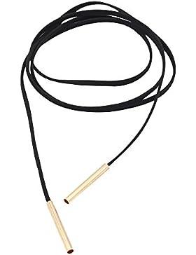Contever® Bohemian Mädchen Lederschmuck Lederband Kette Sweater / Kleid Kette (Gold)