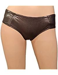 SODACODA Women Metallic Silver-Bronze Knickers – Tight Wetlook Underwear (S-XXL)