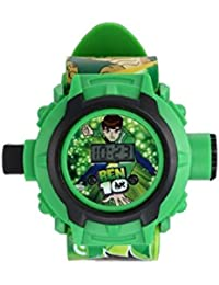 Ben 10 Digital Boys' & Girls' Watch (Green Dial Green Colored Strap)