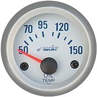 Simoni Racing OT/SB eléctrica Temperatura de aceite Gauge con sensores, fondo plateado