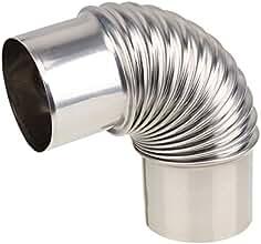 BQLZR caldera calentador de agua Codo Tubo de escape de acero inoxidable para Gas Calentador de
