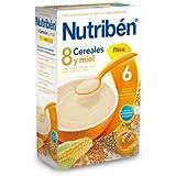 Nutribén 8 Cereales Y Miel Fibra 300 Gr - Para la Alimentación del Bebé a Partir de los 6 Meses