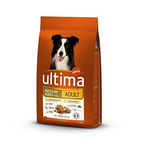 Ultima Medium-Maxi Adulte Croquettes Poulet/Riz pour Chien 7,5 kg