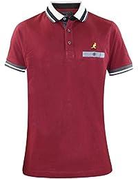 Kangol Mens Polo Shirt Button Up Collared T-shirt Designer Top Sizes S-XL