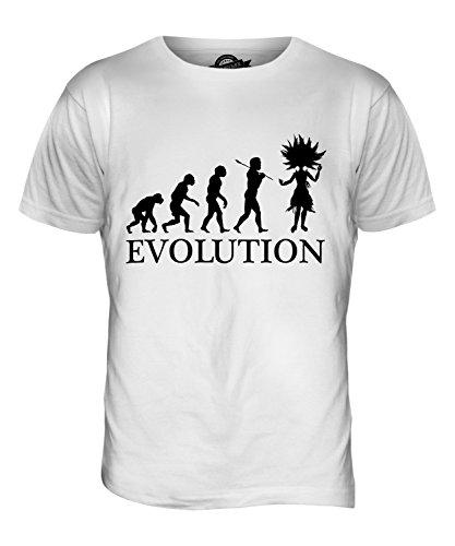 CandyMix Samba Tanz Evolution Des Menschen Herren T Shirt Weiß
