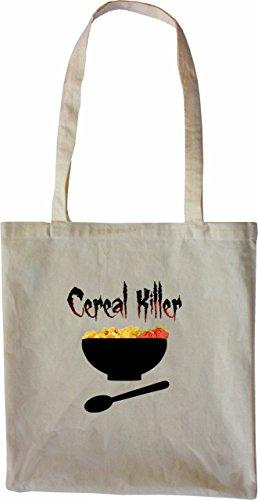 Mister Merchandise Tote Bag Cerial Killer Serial Cerialien Borsa Bagaglio , Colore: Nero Naturale