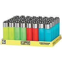 48 Mecheros encendedores Clipper de colores translucidos Pocket